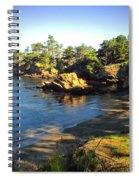 Carmel Meadows Beach At Point Lobos Spiral Notebook