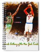 Carmelo Anthony Of The New York Knicks Spiral Notebook