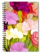 Carnation Bouquet Spiral Notebook