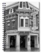 Carnation Cafe Main Street Disneyland Bw Spiral Notebook