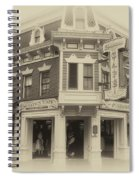 Carnation Cafe Main Street Disneyland Heirloom Spiral Notebook