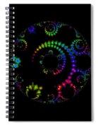 Carnival At Night 1 Fractal Spiral Notebook