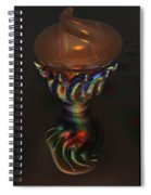 Carnival Glass Bulb Sprouter  Spiral Notebook