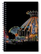 Carnival Rides At Night 04 Spiral Notebook