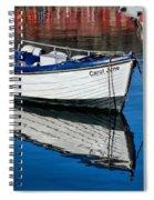Carol June At Lyme Regis Harbour Spiral Notebook