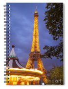 Carousel And Eiffel Tower Spiral Notebook