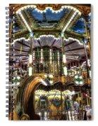 Carousel At Hotel Deville Spiral Notebook