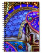 Carousel Beauty Blue Charger Spiral Notebook