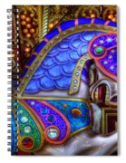 Carousel Beauty Prancing Spiral Notebook