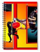 Carousel Horse Fireman 04 In Teal Spiral Notebook