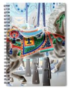 Carousel Horse In Negative Colors Spiral Notebook