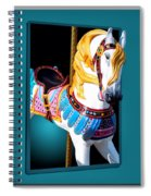 Carousel Horse White Spiral Notebook