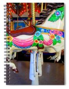 Carousel Horse With Flower Drape Spiral Notebook