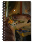 Carousel Horses Painterly Spiral Notebook