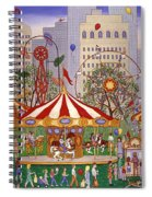 Carousel In City Park Spiral Notebook