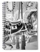 Carousel In Negative 3 Spiral Notebook