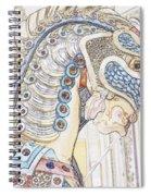 Carousel Stallion Spiral Notebook