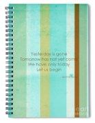 Carpe Diem Serie - Mother Teresa Spiral Notebook