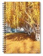 Carpet Of Yellow Leaves Spiral Notebook