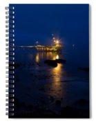 Carpinteria Blue And Gold Spiral Notebook