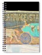 Carriage And Stagecoach Color Invert Spiral Notebook