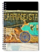 Carriage And Stagecoach Sign Spiral Notebook
