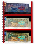 Carriage And Stagecoach Three-in-one Spiral Notebook