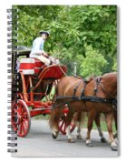 Carriage Spiral Notebook