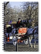 Carriage Driver - Central Park - Nyc Spiral Notebook