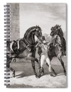 Carriage Horses For The King Spiral Notebook