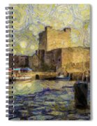 Starry Carrickfergus Castle Spiral Notebook