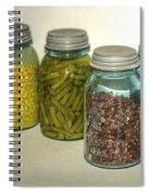 Carrots Vintage Kitchen Glass Jar Canning Spiral Notebook
