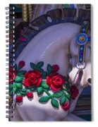 Carrsoul Horse With Roses Spiral Notebook