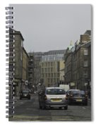 Cars And Buildings On The Streets Of Edinburgh Spiral Notebook