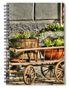 Cart And Flowers In Slovenia Spiral Notebook