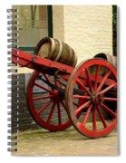 Cart Loaded With Wood Beer Barrels Spiral Notebook
