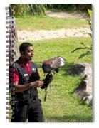 Cartoon - A Trainer And A Large Bird Of Prey At A Show Inside The Jurong Bird Park Spiral Notebook