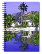 Cartoon - Cottages And Lagoon Water Spiral Notebook