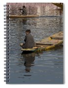 Cartoon - Kashmiri Men Rowing Many Small Wooden Boats In The Waters Of The Dal Lake Spiral Notebook