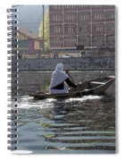 Cartoon - Light Following This Lady On A Wooden Boat On The Dal Lake In Srinagar Spiral Notebook