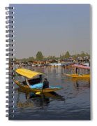 Cartoon - Multiple Number Of Shikaras On The Water Of The Dal Lake In Srinagar Spiral Notebook