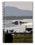 Cartoon - Shalimar Garden - The Dal Lake And Mountains In The Background In Srinagar Spiral Notebook