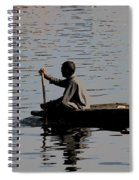 Cartoon - Splashing In The Water Caused Due To Kashmiri Man Rowing A Small Boat Spiral Notebook