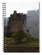 Cartoon - Structure Of The Eilean Donan Castle In Front With Dry Part Of Lake Spiral Notebook