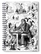 Cartoon Alcoholism, 1874 Spiral Notebook