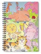 Cartoon Animals Spiral Notebook