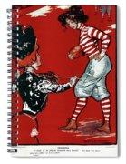 Cartoon Football, 1901 Spiral Notebook