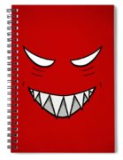 Cartoon Grinning Face With Evil Eyes Spiral Notebook