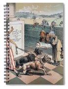 Cartoon Immigration, 1885 Spiral Notebook