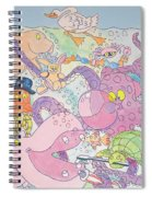 Cartoon Sea Creatures Spiral Notebook